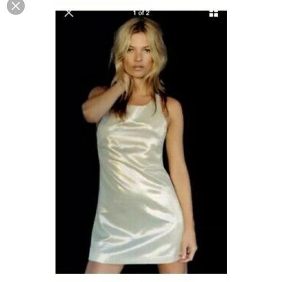 KateMoss x Top Shop gold racerback dress US 0 UK 6